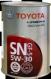 Toyota Motor Oil 5w30 SN/CF-5 1л. (Япония)